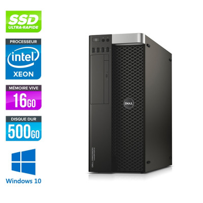 Dell 5810 - Xeon 1650 V3 - 16Go - 500Go SSD - Quadro 6000 - W10