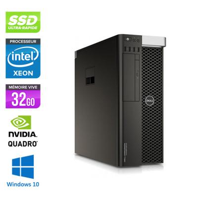 Dell T5810 - Xeon 1607 V3 - 32Go - 500Go SSD - Quadro K4200 - W10