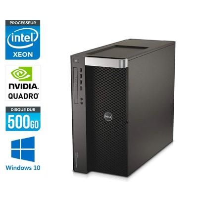 Dell T7610 - Xeon - 16Go - 500Go HDD - Quadro K2000 - W10