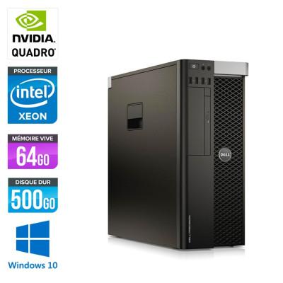 Workstation reconditionné - Dell 7820 - Xeon Gold 5118 - 64Go - 500Go HDD - Quadro P6000 - W10