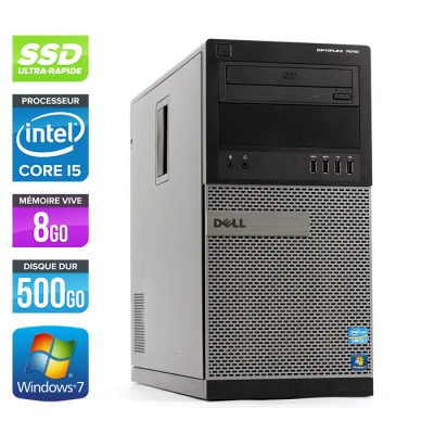 Dell Optiplex 7010 Tour - Core i5 - 8Go - 120Go SSD / 500Go HDD