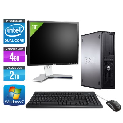 Dell Optiplex 780 Desktop - E5300 - 4Go - 2To + Ecran 19""