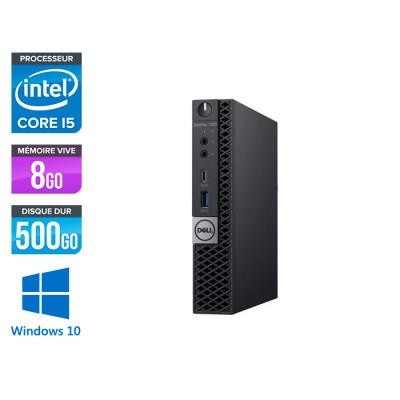 Unité centrale reconditionnée - Dell Optiplex 7060 Micro - i5 - 8Go - 500Go HDD - Win 10