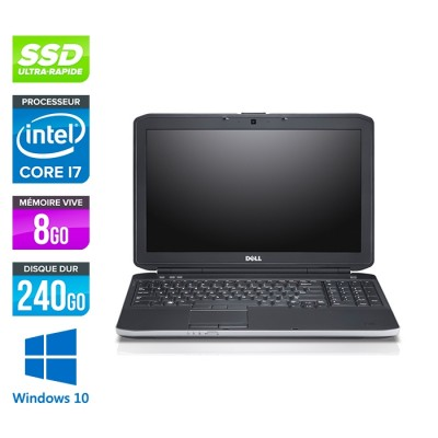 Dell E5530 - i7 3520M -  8Go - 240Go SSD - 15.6'' - Windows 10