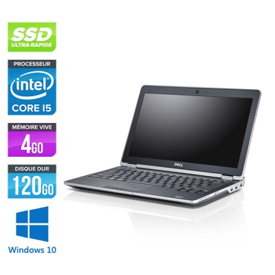 Dell Latitude E6230 - Core i5 - 4 Go - 120 Go SSD - Webcam - Windows 10