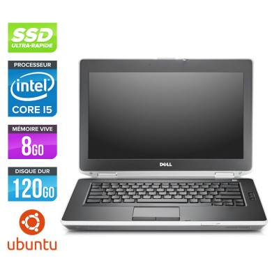 Dell Latitude E6430 - Core i5-3320M - 8 Go - SSD 120 Go - Ubuntu - Linux