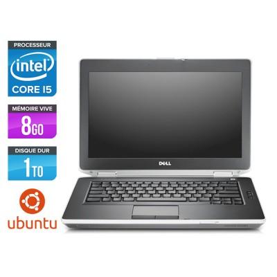 Dell Latitude E6430 - Core i5-3320M - 8 Go - HDD 1 To - Ubuntu - Linux