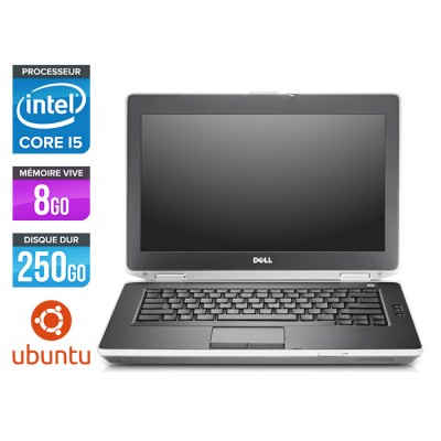 Dell Latitude E6430 - Core i5-3320M - 8 Go - HDD 250 Go - Ubuntu - Linux