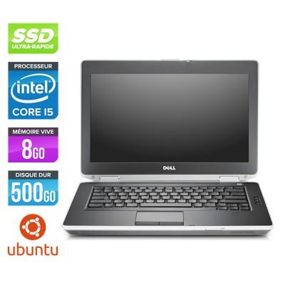 Dell Latitude E6430 - Core i5-3320M - 8 Go - SSD 500 Go - Ubuntu - Linux