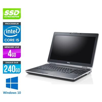Dell E6530 - i5 - 4Go -240Go SSD - Windows 10