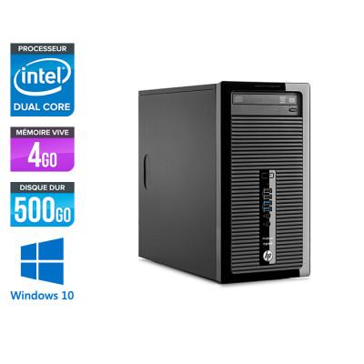 HP ProDesk 400 G2 Tour - reconditionné - Pentium - 4Go DDR3 - 500Go - HDD - Windows 10