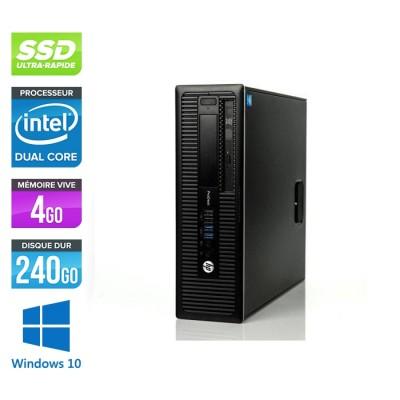HP 600 G1 SFF - G3220 - 4Go - 240Go SSD -W10