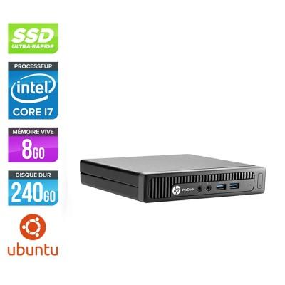 Pc de bureau HP EliteDesk 600 G1 desktop mini reconditionné - i7 - 8Go DDR4 - 240Go SSD - Linux