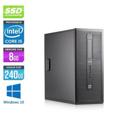 HP EliteDesk 600 G1 Tour - i5 - 8Go - 240Go SSD - Windows 10