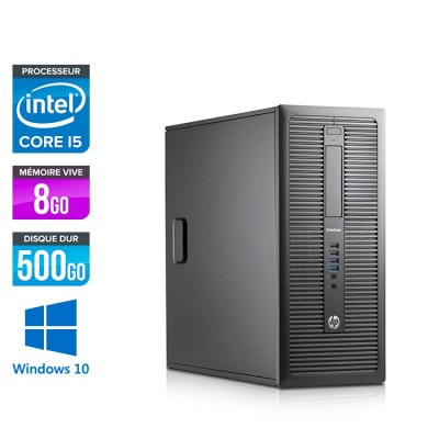 HP EliteDesk 600 G1 Tour - i5 - 8Go - 500Go HDD - Windows 10 Home