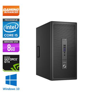 HP ProDesk 600 G2 Tour - i5-6500 - 8Go DDR4 - SSD 240Go - 500Go - NVIDIA GTX 1050 - Windows 10