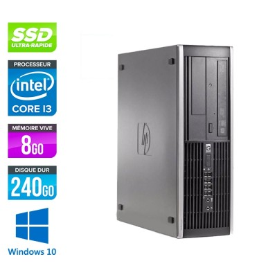 HP 6300 Pro SFF - i3 - 8Go - 240Go SSD - Windows 10