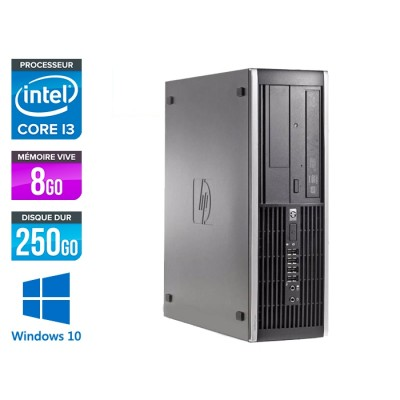 HP 6300 Pro SFF - i3 - 8Go- 250 Go HDD - Windows 10