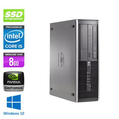 HP 6300 Pro SFF - i5 - 8 Go- 240Go SSD - NVIDIA GeForce GT 1030 - Windows 10