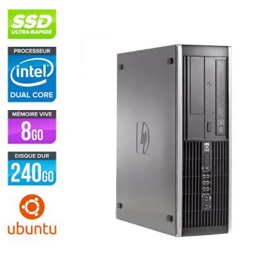 HP 6200 PRO SFF - Pentium - 8 Go - 240Go SSD - Ubuntu / Linux