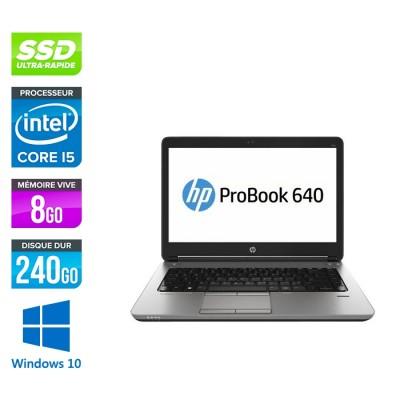 HP Elitebook 640 - i5 4200M - 8Go - 240Go SSD - 14'' HD - Windows 10 home  - 2