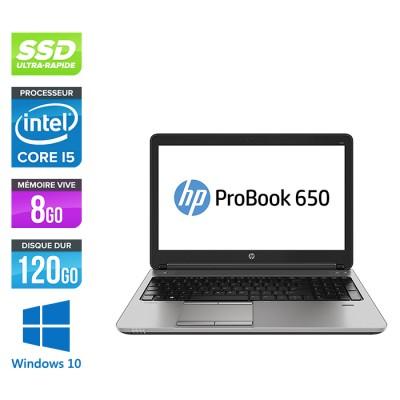 Ordinateur portable reconditionné - HP ProBook 650 G1 - i5 - 8Go - 120Go SSD -15.6'' - Win10