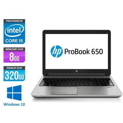HP 650 G1 - i5 - 8Go - 320Go HDD -15.6'' - Win10