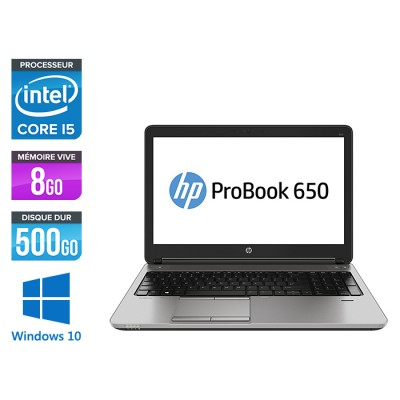 HP 650 G1 - i5 - 8Go - 500Go HDD -15.6'' - Win10
