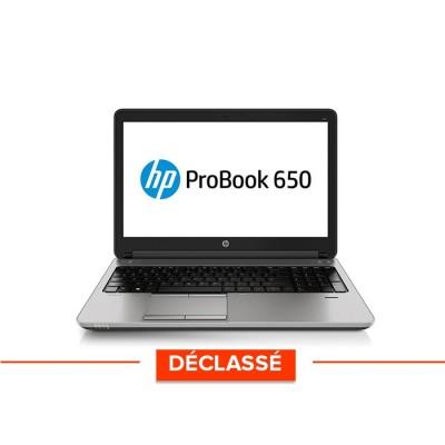 """Pc portable - HP ProBook 650 G1 - Core i5 - 8Go - 500Go HDD - 15.6"""" pouces - Windows10 - déclassé"""