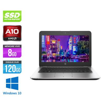 HP Elitebook 725 G3 - A10 - 8Go - SSD 120Go - 12.5'' - Windows 10