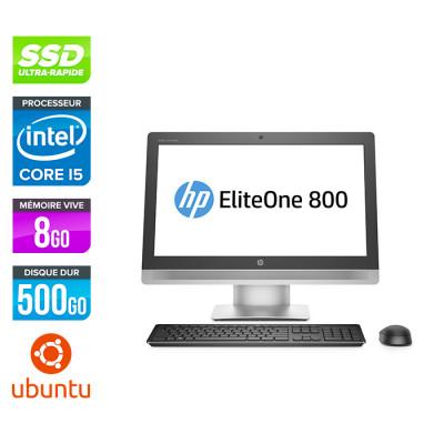 Tout-en-un HP EliteOne 800 G2 AiO - 8Go - 500 SSD - Linux