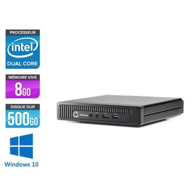 HP EliteDesk 800 G1 SFF - Pentium - 8Go - 500Go HDD - Windows 10