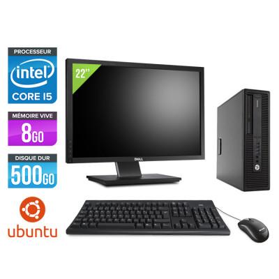 HP EliteDesk 800 G2 SFF - i5 - 8Go DDR4 - 500Go HDD - Linux