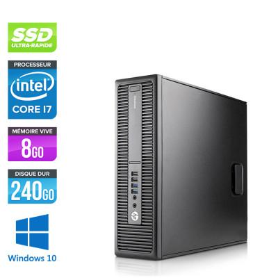Pc bureau professionnel - HP EliteDesk 800 G2 SFF - i7 - 8Go DDR4 - SSD 240 Go - Windows 10