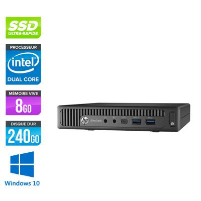 Pc de bureau HP EliteDesk 800 G2 DM reconditionné - G440T - 8Go DDR4 - 240Go SSD - Windows 10