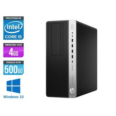 Pc de bureau HP EliteDesk 800 G3 Tour reconditionné - i5 - 4Go DDR4 - 500GO HDD - Windows 10