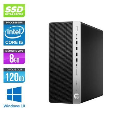 Pc de bureau HP EliteDesk 800 G3 Tour reconditionné - i5 - 8Go DDR4 - 120GO SSD - Windows 10