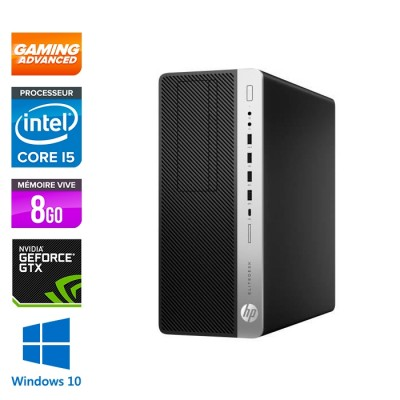 Pc de bureau HP EliteDesk 800 G3 Tour Gamer - i5 - 8Go DDR4 - 240GO SSD - GTX 1050 - Windows 10