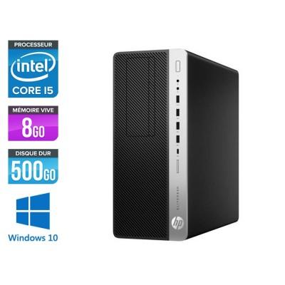 Pc de bureau HP EliteDesk 800 G3 Tour reconditionné - i5 - 8Go DDR4 - 500GO HDD - Windows 10