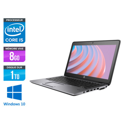 Ordinateur portable reconditionné - HP Elitebook 820 - i5 4200U - 8 Go - 1To HDD - Windows 10
