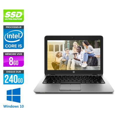 Ordinateur portable reconditionné - HP Elitebook 820 G1 - i5 4200U - 8 Go - SSD 240 Go - Windows 10