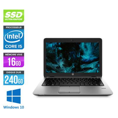 HP Elitebook 820 - i5 5300U - 16Go - 240Go SSD  - Windows 10