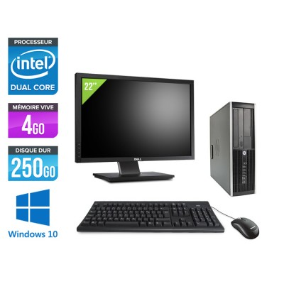 "HP Elite 8200 SFF + Ecran 22"" - Intel G840 - 4Go - 250Go - Windows 10"