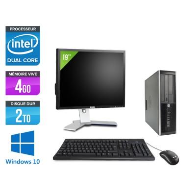 "HP Elite 8200 SFF + Ecran 19"" - Intel G840 - 4Go - 2To - Windows 10"