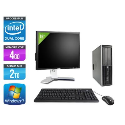 "HP Elite 8200 SFF + Ecran 19"" - Intel G840 - 4Go - 2To - Windows 7"