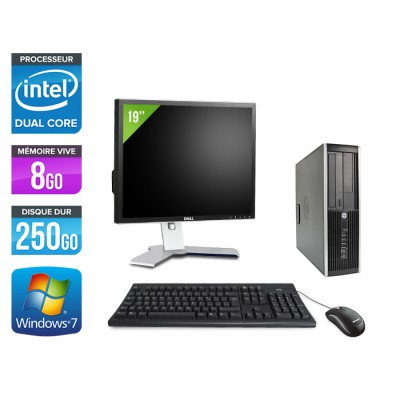 "HP Elite 8200 SFF + Ecran 19"" - Intel G840 - 8Go - 250Go - Windows 7"