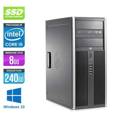 Pc de bureau - Unité centrale reconditionné HP Elite 8200 Tour - Core i5 - 8Go RAM - SSD 240Go - Windows 10