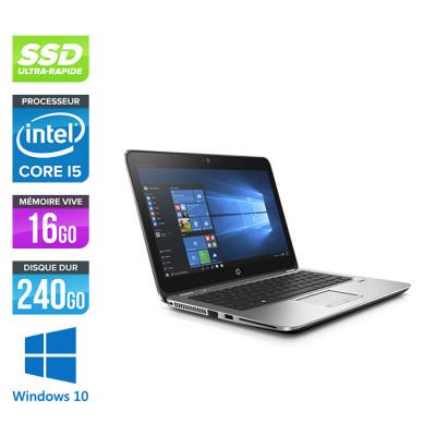 HP Elitebook 820 G3 - i5 6200U - 16Go - 240Go SSD  - Windows 10