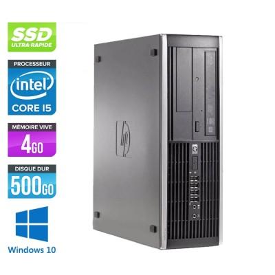Pc de bureau professionnel reconditionné - HP 8300 SFF - Intel i5-3470 - 4Go - 500Go SSD - Windows 10