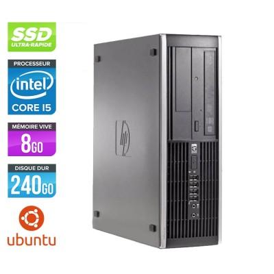 Pc de bureau professionnel reconditionné - HP 8300 SFF - Intel i5-3470 - 8Go - 240Go SSD - Linux